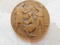 Vincze Dénes (1914-1972) bronzplakett