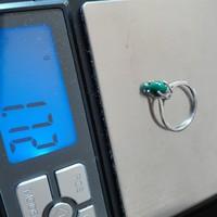 Malachit köves ezeüst gyűrű