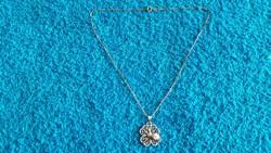 1,-Ft Gyönyörű antik szkarabeusz filigrán ezüst medál,ezüst nyaklánccal!Garanciával!