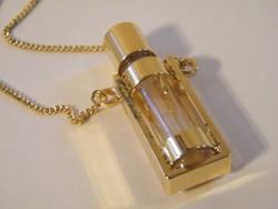 Aranyozott nyaklánc parfümtartó medállal