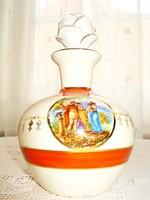 Porcelán palack Angelica Kaufmann életképpel