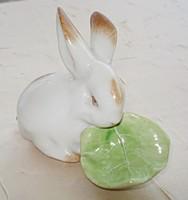 Zsolnay porcelán nyuszi káposztával