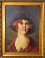 Rottman Mozart / Nő kalapban