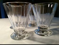 4 db biedermeier pohár