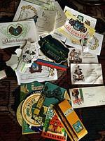 Borosüveg címkék,bőröndcímkék 1964ből címkegyűjtemény