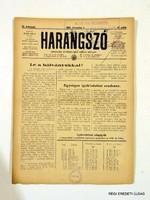 1940 december 1  /  HARANGSZÓ  /  SZÜLETÉSNAPRA RÉGI EREDETI MAGYAR ÚJSÁG Szs.:  4661