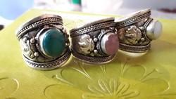 Vagány bizsu gyűrűk állítható méret