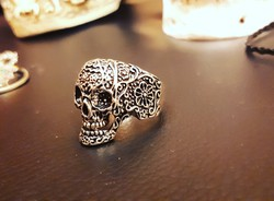 Vagány koponya  gyűrű minden méretben!