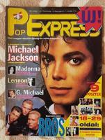 Pop Expressz magazin, 1988. Első évfolyam, első szám - Michael Jackson, gyűjteményből, nagyon ritka.
