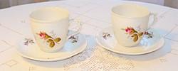 2 db Rosenthal  porcelán kávéscsésze, aljjal
