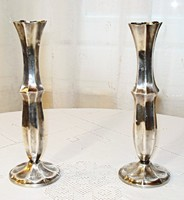 Kecses ezüstözött váza pár