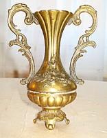 Barokk bronz, füles váza