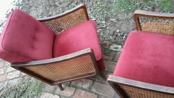 Nagyon kényelmes ülésű és háttámlájú sérült thonet hálós rugós fotel