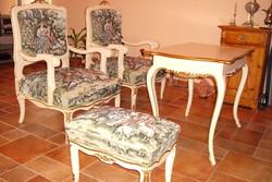 Vintage fotel 2db felújított tűgoblein kárpit