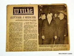 1956 január 19  /  UJ VILÁG  /  RÉGI EREDETI MAGYAR ÚJSÁG Szs.:  4557