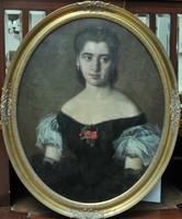 Albert Mosé (1835-1903): Női portré,