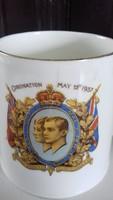 VI. György 1937 koronázási emlék bögre