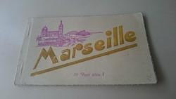 Képeslap, Marseille-i képeslapok képeslap tömb. 10 db.