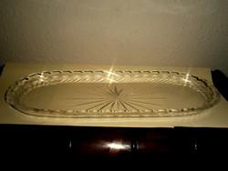 Antik metszett üveg  tálca- 33 cm X 12  cm