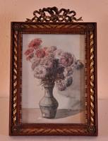 Ismeretlen művész: Csendélet, akvarell, 19. század