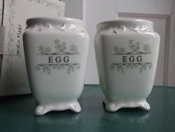 ÚJ-reggeliző tojástartó pár+doboza angol porcelán