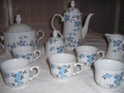 Porcelán készlet - JELZETT - 11 db Bavaria rózsás -1,5 l kanna - 2,5 l tál - 2,5 dl csésze stb