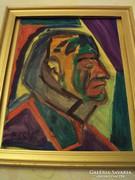 (Cs)Németh Miklós(1934-2012):Férfi portré.