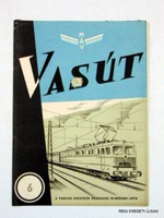 1964 június -  /  VASÚT  /  RÉGI EREDETI MAGYAR ÚJSÁG Szs.:  4273