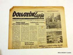 1968 október 10  /  DOLGOZÓK LAPJA  /  RÉGI EREDETI MAGYAR ÚJSÁG Szs.:  4479