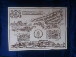 1986 - Budai várnegyed - Budapest Főváros Tanácsa - Somogyi Győző - 47,5 x 66 cm. - térkép