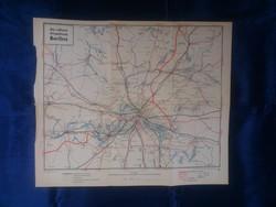 1939 - Berlin és környéke - 43 x 51 cm. - térkép