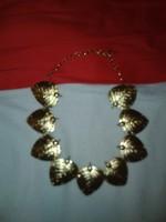 Aranyozott levél nyaklánc arany színű alkalmi női fém lánc