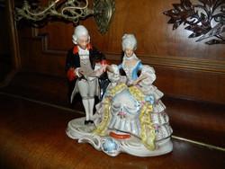 LEÁRAZTAM !!!! Régi német koronás pecsétes barokk pár - ritka