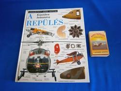 A repülés képekben bemutatva retro könyv és Harci repülők játék kártyacsomag
