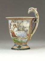0M035 Antik Altwien porcelán kávéscsésze