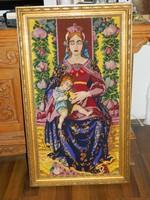 HÚSVÉTI AKCIÓS ÁR !!! Hatalmas álomszép gobelin - Szűz Mária Jézussal