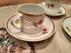 Hollóházi kávés készlet négy személyes