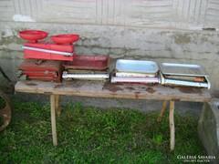 Öt darab régi, retro mérleg együtt eladó