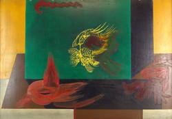 0Q248 Ismeretlen művész : Absztrakt virág