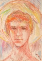 0Q240 Ismeretlen művész : Női portré