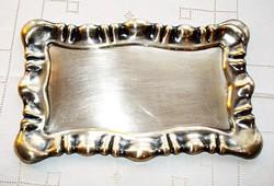 Barokk stílusú, ezüstözött, jelzett alpakka tálca