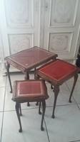 Barokk asztal garnitúra 3 db-os
