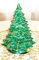 Kézzel festett, kerámia karácsonyfa