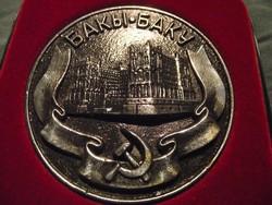 Ritka! nagyméretű Baku emlékplakett, a szovjet időkből