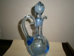 Csiszolt  üveg kancsó eredeti dugóval