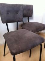 Retro, industrial,  felújított bőr szék
