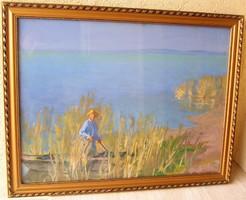 CSÁKI-MARONYÁK JÓZSEF festménye (60 cm x 80 cm; olaj-farost) Magángyűjteményből, garanciával!