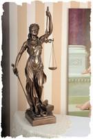 GIGANTIKUS JUSTITIA EXKLUZÍV LÁTVÁNYOS ÁBRÁZOLÁS, 90 cm BRONZ BEV.SZOBOR KOMPOZÍCIÓ