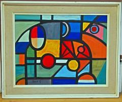 OROSZ Gellért (1919-2002) festmény, 62 x 75 cm, jbl.