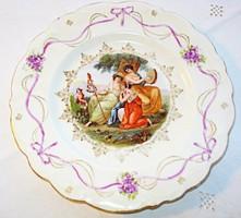 Szecessziós, altwien porcelán tányér mitológiai jelenettel